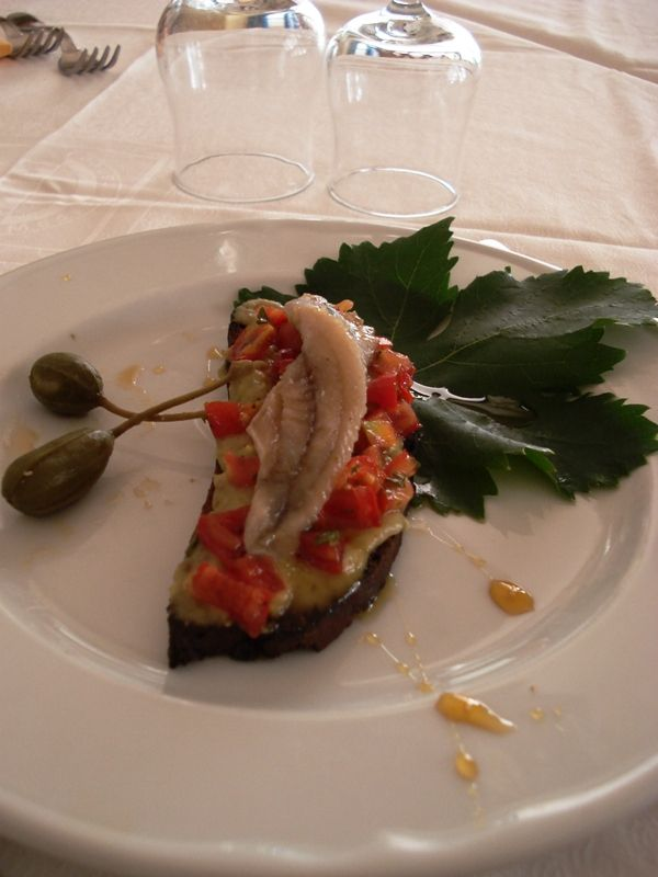 Bruschetta con alici