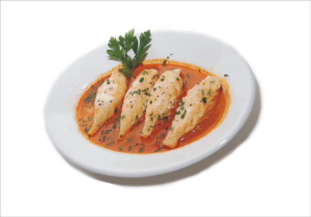 Cassatelle in brodo di Pesce specialità della tradizione Sanvitese